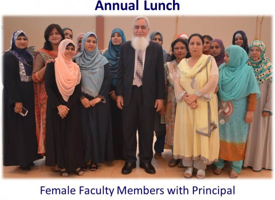 Annual Lunch – Female Faculty Member with Principal