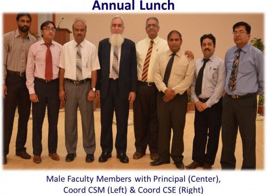 Annual Lunch – Male faculty members with Principal, Coord CSM, Coord CSE