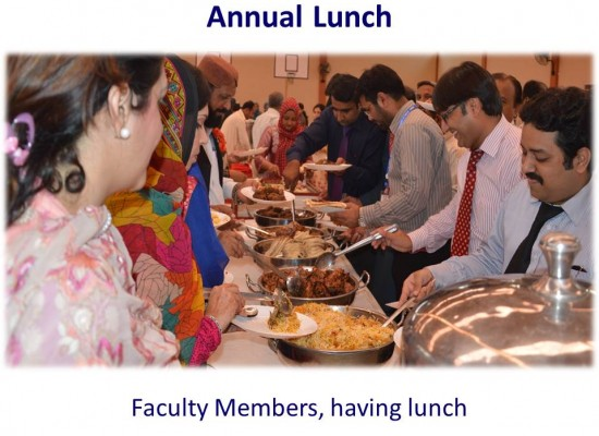 Annual Lunch – Faculty Members